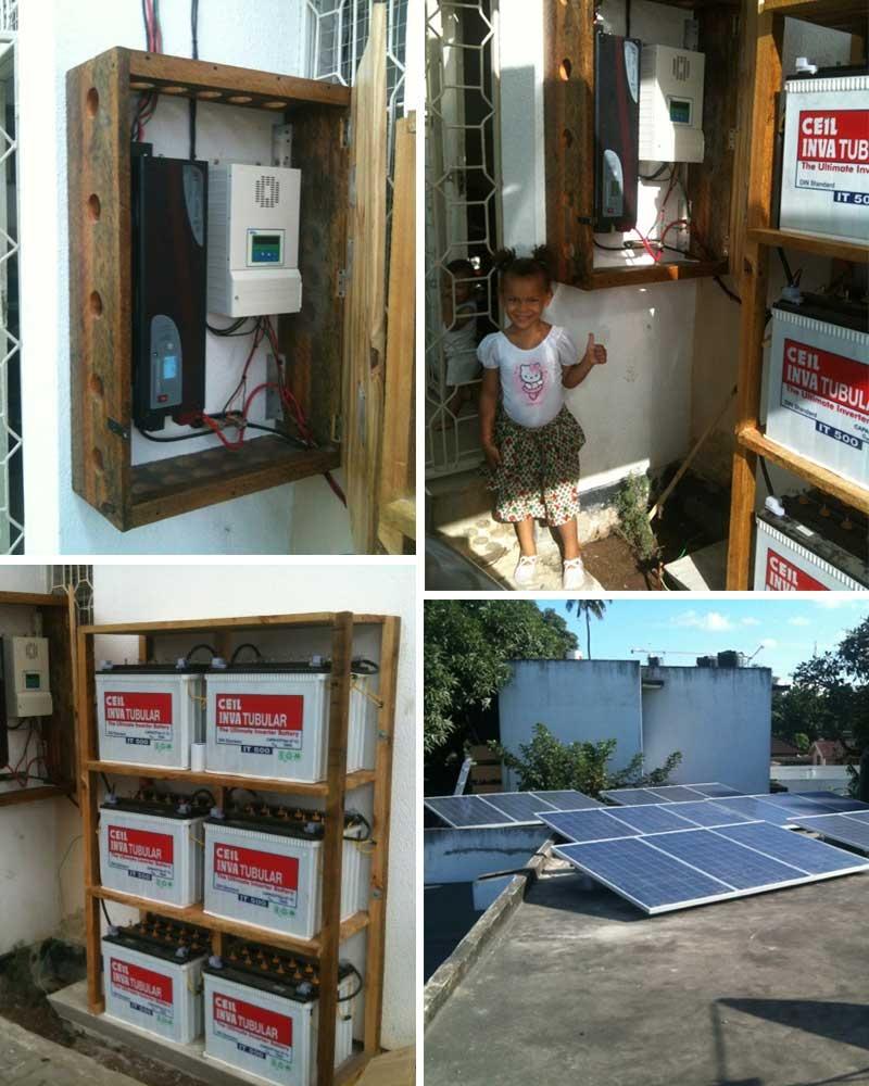 Restar 6KWp نظام الطاقة الشمسية المنزلية خارج الشبكة في تنزانيا مايو 2013.