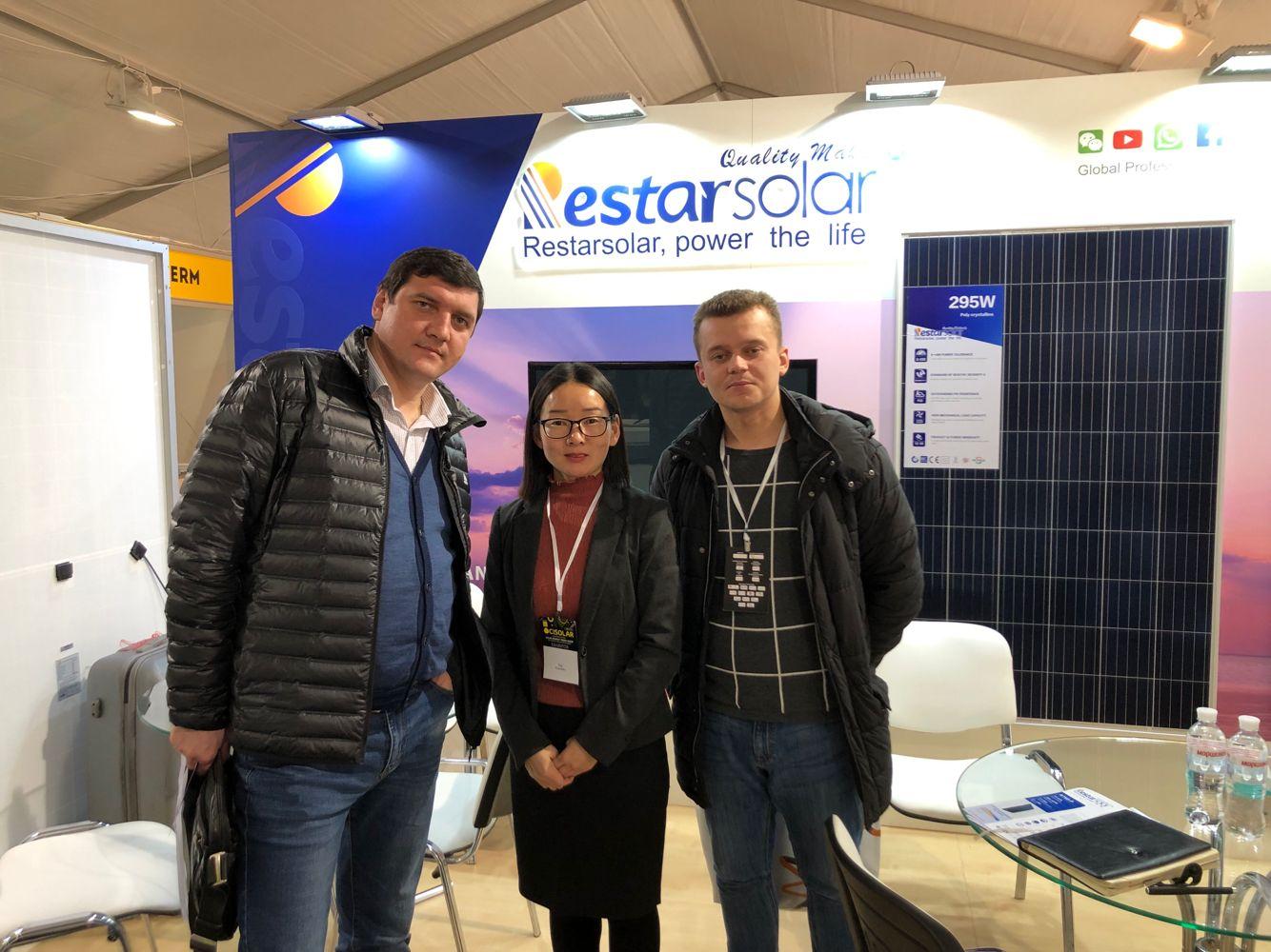 تشارك Restar Solar في المعرض الأوكراني الدولي للطاقة الشمسية لعام 2019 وتواصل استكشاف السوق الأوروبية