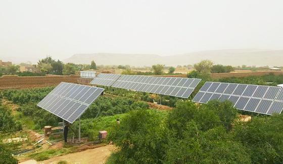 Restar 22KW نظام المضخة الشمسية للري الزراعي في صنعاء ، اليمن.