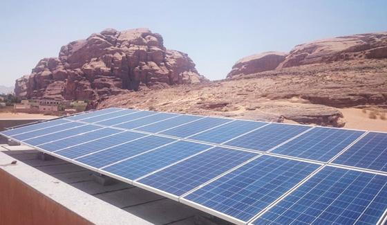 مشروع رستار للطاقة الشمسية 32 كيلو واط في الأردن 2016